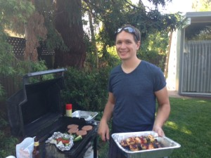 Jeremy grilling